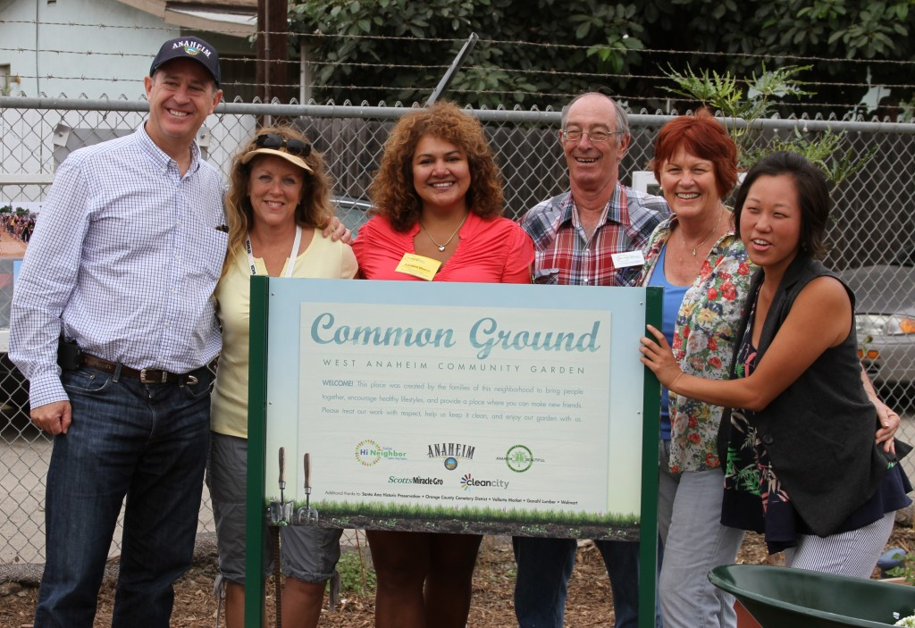 With Tom Tait, Mayor of Anaheim -Inaugurating the community garden
